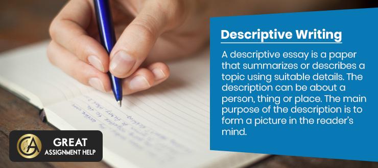 Help writing descriptive essay